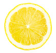 canvas print picture - Lemon slice isolated on white background.