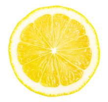 Lemon Slice Isolated On White ...
