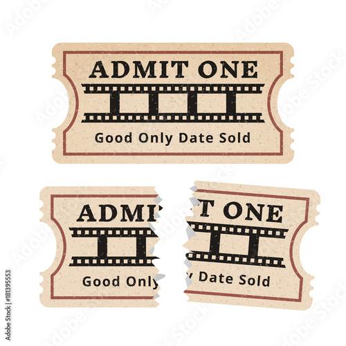 Ripped vintage paper ticket stub. – kaufen Sie diese Vektorgrafik ...