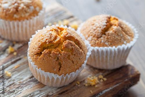 Fototapeta  Homemade Autumn Pumpkin Muffin