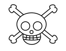 海賊マーク(線画)