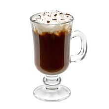 Irish Coffee Isolated On White...