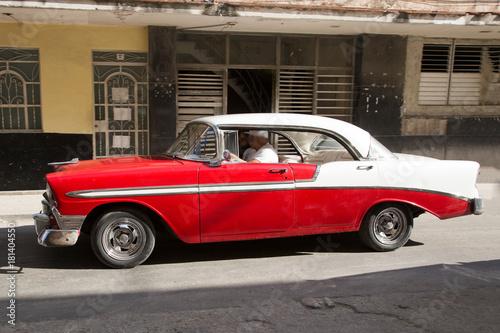 Türaufkleber Autos aus Kuba Wunderschöner Oldtimer auf Kuba (Karibik)