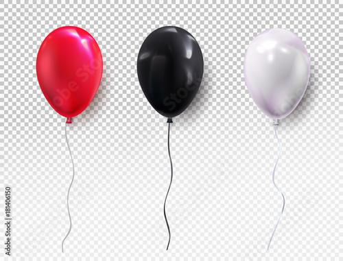 Fotografie, Obraz  Set colors helium balloon