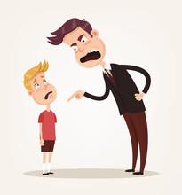 Angry Sad Unhappy Father Chara...