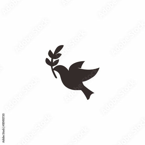 Cuadros en Lienzo Dove Peace Logo Icon