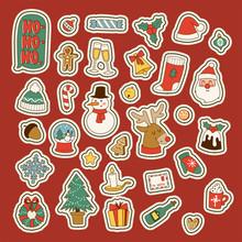 Christmas Greeting Card Sticke...