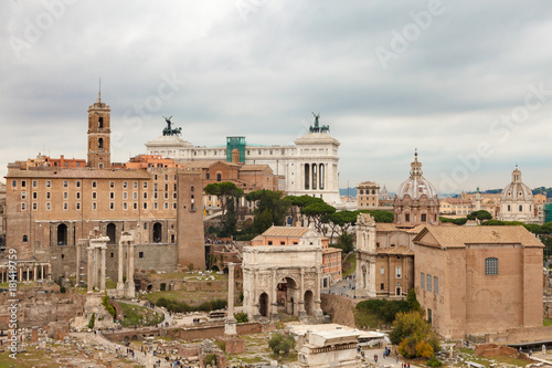 Staande foto Rome View of roman Forum from Palatine hill.