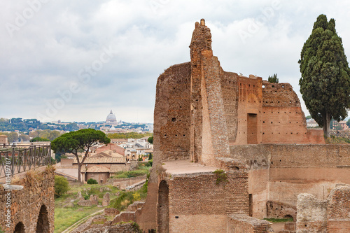 Fotografie, Obraz  The Domus Augustana or Roman Palace of Domitian with St