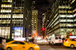 Urban Nightime NYC Manhattan new york city