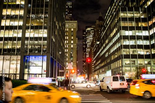 Poster New York TAXI Urban Nightime NYC Manhattan new york city
