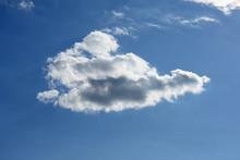 青空と雲「空想・雲のモンスター」(思いの詰まった、浮遊感、印象的な、気持ちを込めて、ぷかぷかと浮かぶ、ゆったりとなどのイメージ)・雲などにタイトルスペース