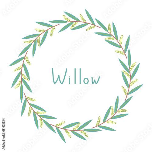 Fotografía Decorative willow frame
