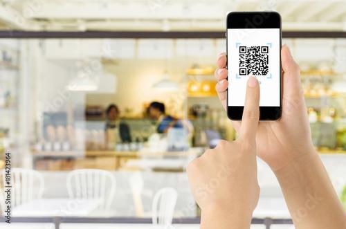 Fotografie, Obraz  Payment via QR code