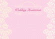 The pink wedding invitation card background template with pattern, ornament