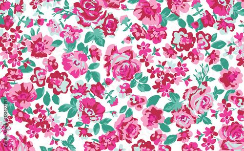Fototapeten Künstlich Seamless Floral Pattern