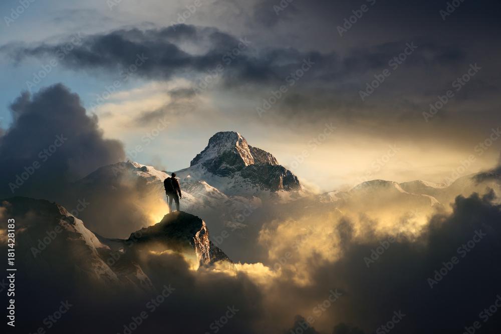 Fototapety, obrazy: Bergsteiger