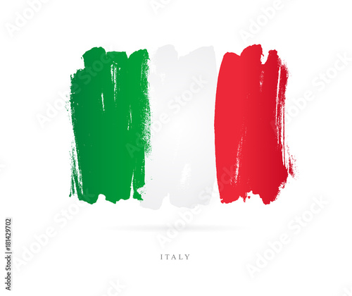 Flag of Italy. Abstract concept Fotomurales