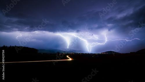 Plakat prognoza burzy z piorunami