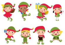 Group Of Elf Children