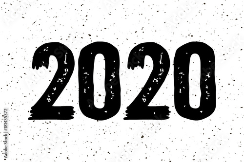 December 2020 Modern Typography Calendar 2020 Happy New Year typography calendar poster. Beautiful hand