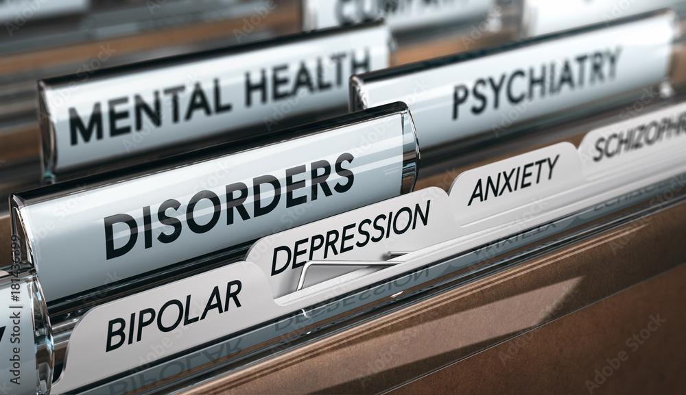 Fototapety, obrazy: Mental Illness List, Psychiatric Disorders