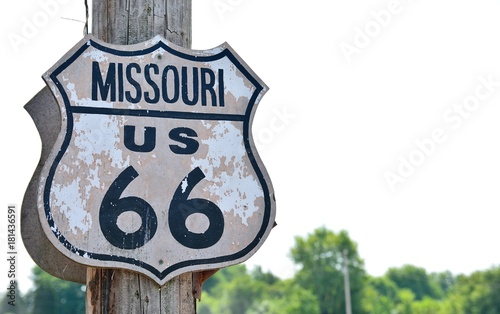 Poster Route 66 Historic route 66 sign in Missouri.
