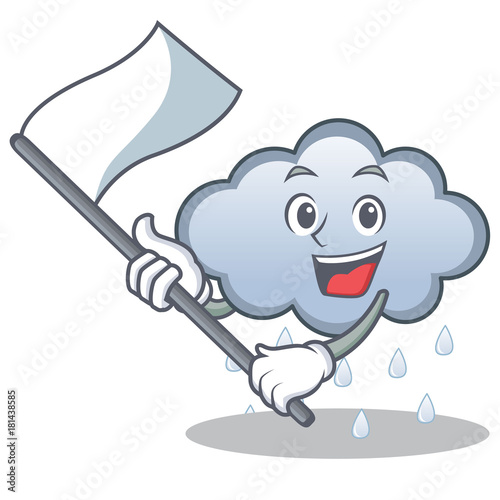 Canvas Prints Baby room With flag rain cloud character cartoon
