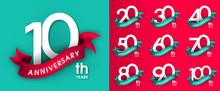 Set Of Anniversary Emblems , A...