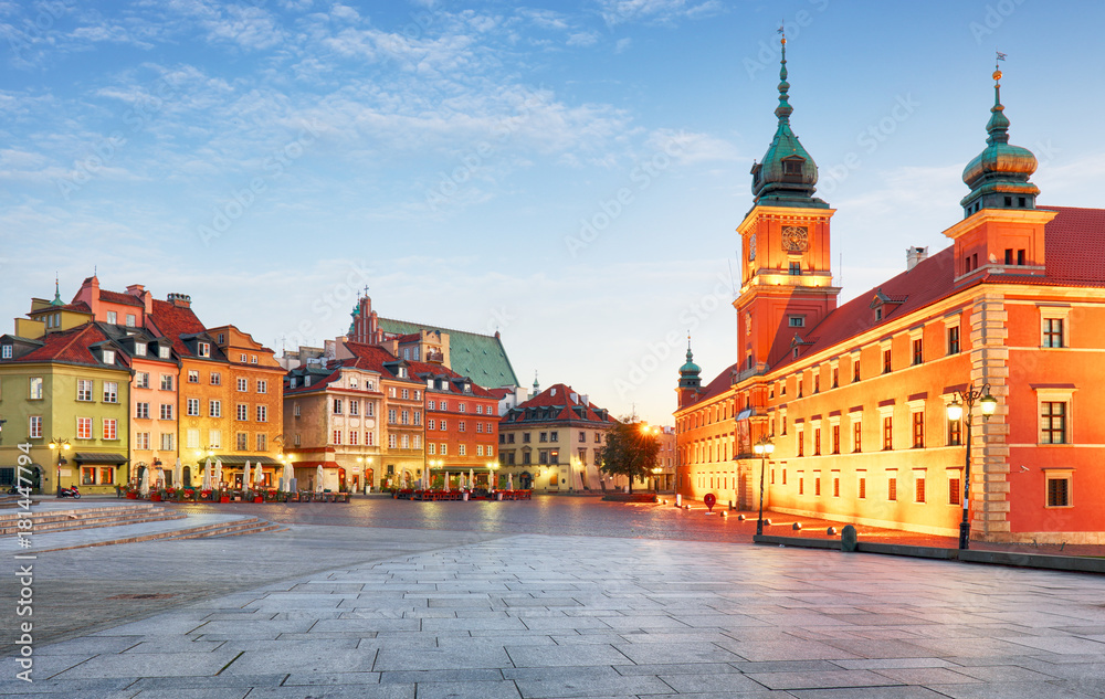 Fototapety, obrazy: Warszawa Stare Miasto, Plaz Zamkowy