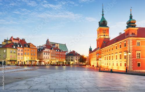 Obraz Warszawa Stare Miasto, Plaz Zamkowy - fototapety do salonu