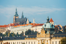 Historical Center Of Prague With Castle, Hradcany, Czech Republic
