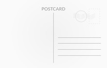 Travel Card Design. Vector Whi...