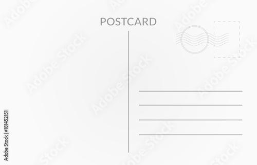 Fotografía Travel card design. Vector white postcard illustration
