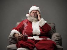 Santa Claus Is Having An Heada...