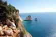 The best views of the Big and Small Mizithra island of Zakynthos, Greece