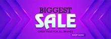 Biggest Sale Website Banner On...