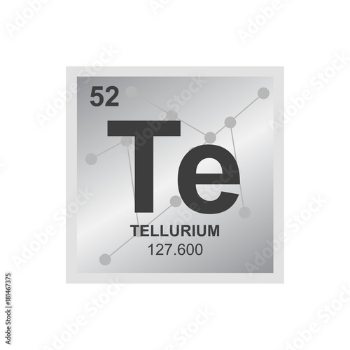 Vector Symbol Of Tellurium From The Periodic Table Of The Elements