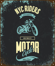 Vintage Bikers Club Vector T-s...