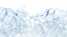 Natural Ice Cubes Background.