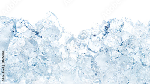 Photographie Natural ice cubes background.