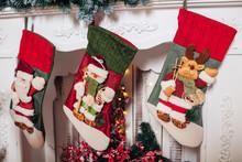 Christmas Stockings Hanging Ov...