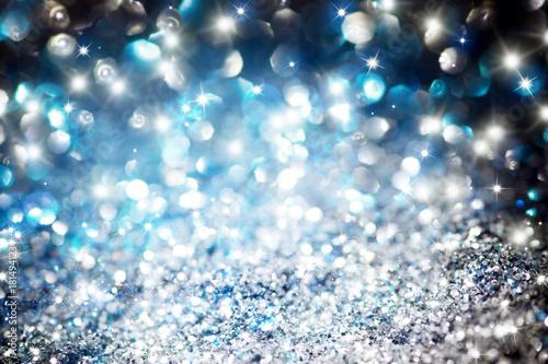 Photo christmas twinkle glitter background