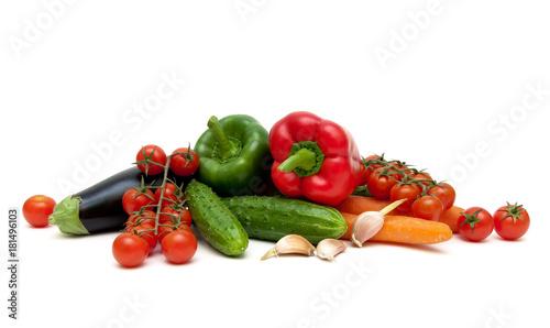 Printed kitchen splashbacks Fresh vegetables fresh vegetables isolated on white background