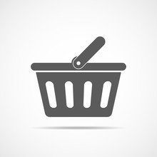 Shopping Basket Icon. Vector I...