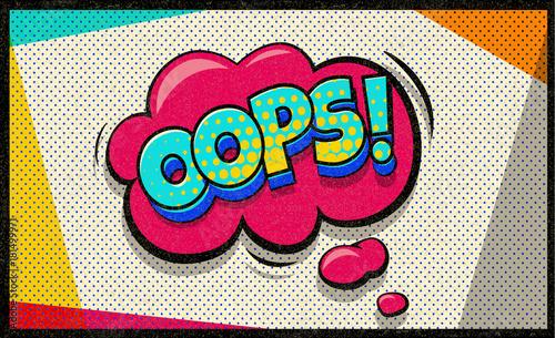 oops-pop-art-wektor-chmura-i-banka
