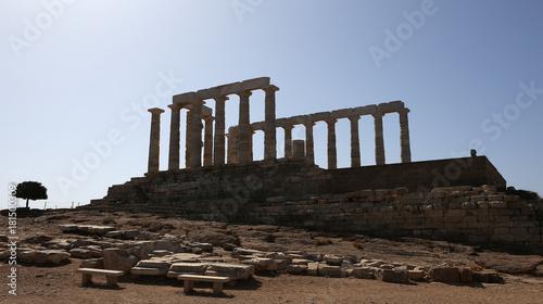 Photo Temple of Poseidon, Attica peninsula, Greece