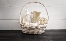 Wicker Basket With Spa Treatme...