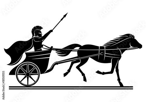 War chariot sign. Wallpaper Mural