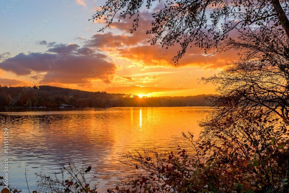 Fototapeta Sonnenuntergang am See
